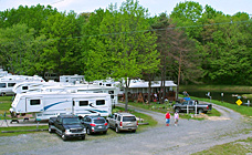Spacious campsites at Gaslight Campground!