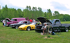 Classic cars at Gaslight Campground!