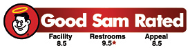 Good Sam Rated 8.5 Facility / 9.5* Restrooms / 8.5 Appeal