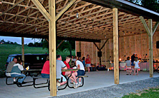 Large pavilion at Gaslight Campground!