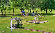 Playground and gazebo at Gaslight Campground.